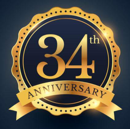34th anniversary